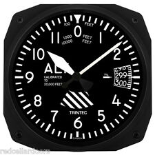 "New Trintec 10"" Classic Altitude Altimeter Aviation Instrument Clock Aviator"