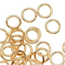 22K Gold Plated 6mm 19 Gauge Open Jump Rings (100)