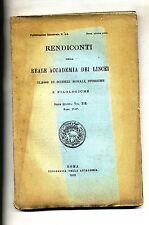 RENDICONTI DELLA REALE ACCADEMIA DEI LINCEI #Tip.Accademia 1910 Vol. XIX N.5-6