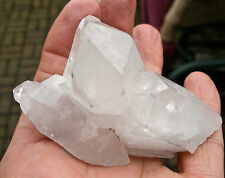 ARKANSAS QUARTZ CRYSTAL NATURAL ROUGH UNPOLISHED POINT CLUSTER 80mm 3.25""