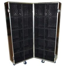 MERCHANDISE CASE - DISPLAY CASE STAND - HOLDS 20 MILK CRATES FOR PRODUCTS