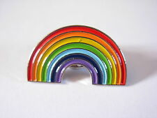 Rainbow pin badge. Lapel badge. Nice colours. LGBT Pride
