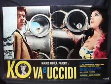 FOTOBUSTA CINEMA - K.O. VA E UCCIDI - MAURO NICOLA PARENTI - 1966 - DRAMMATICO
