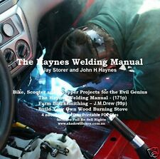 CD - The Haynes Welding Manual - Blacksmithing - Bike,Scooter Projects - 4 eBook