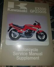 Kawasaki EX500/GPZ500S 1987 Motorcycle Service Manual Supplement NEW