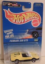 HOT WHEELS 1997 FERRARI 308 GTS COLLECT. #604 YELLOW **Authentic Touring Roof**