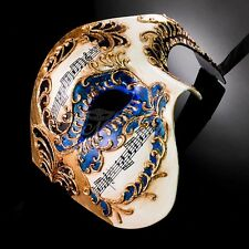 Phantom of the Opera Musical Venetian Masquerade Mask for Men [Blue/Gold]