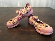 Pediped Flex Girls Shoes Size 29 12 - 12.5 Floral Pink Maryjanes