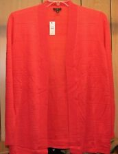 Talbots~NWT~CORAL textured flyaway open cardigan sweater~2X 18W 20W~R$89.50