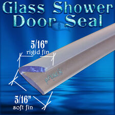 "DS105 Frameless Glass Shower Door Seal, Wipe, Sweep - 98"" Length QUALITY SEAL"