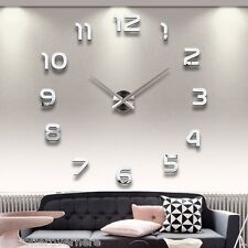 DIY Stereo 3D Workable Clock Removable Wall Decal Sticker Art Mural Home Decor