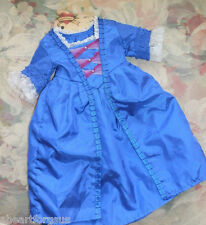 American Girl FELICITY CHRISTMAS GOWN STOMACHER 3 PC BLUE RET'D TAG PLEASANT CO