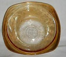 """JEANNETTE FLORAGOLD / LOUISA IRIDESCENT  CARVENAL BERRY BOWL SQUARE 4½"""""""