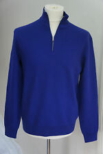 RALPH LAUREN PURPLE LABEL HALF ZIP PULLOVER JUMPER TOP WOOL & CASHMERE SZ LARGE