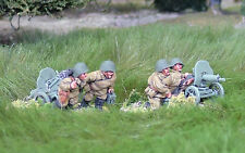 28mm WW2 SOVIETICO RUSSO pesanti MACHINE GUN team.unpainted, STORICO BOLT ACTION