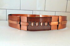 Vintage Renoir Signed Copper Belt w mesh panel 1950's EUC