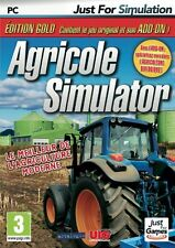 21835//AGRICOLE SIMULATOR EDITION GOLD JEU  + EXTENSION ADD-ON POUR PC NEUF
