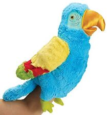 Manhattan Toy Parker Parrot Hand PUPPET Soft Toy PLUSH NEW TAGS beautiful piece