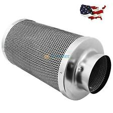 "6"" Hydroponic Air Carbon Charcoal Filter Inline Fan Scrubber Odor Control New"
