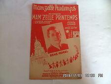 PARTITION MAM'ZELLE PRINTEMPS PAR RENE MOREL MUSIQUE HENRI BETTI    H57