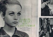 COUPURE DE PRESSE CLIPPING 1967 LESLEY HORNBY dit TWIGGY   (3 pages)