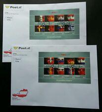 Austria Football UEFA Euro 2008 Games Sport Flag (FDC pair) *rare *see scan