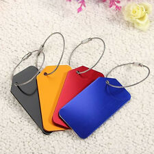 4pcs Aluminium Metal Travel Luggage Baggage Suitcase Address Tags Label  Belts
