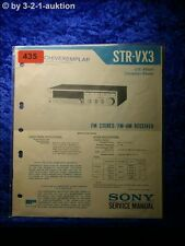 Sony Service Manual STR VX3 Receiver (#0435)