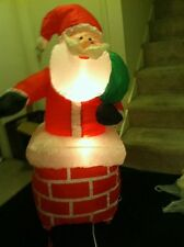 Santa In Chimney Air Blown Inflatable Christmas Yard Decor 4'