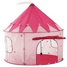 Girls Playhouse Pink Princess Castle Play Tent For Kids Indoor / Outdoor Pockos