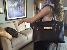 NEW COACH SWAGGER LEATHER SHOULDER BAG CARRYALL SATCHEL PURSE TOTE 36488 $395