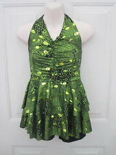 Bright Green Black Snake Skin Competition Recital Costume XL Child XLC 12 14