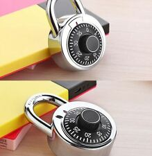 Rotary Padlock Digit Combination Master Code Lock Safe With Round Fixed Dial NEW