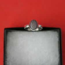 925 Silver Ring With Boswana 1.6 Gr.1.2 x 0.9 Cm Wide Size L-L12-N-O-P-Q12-R
