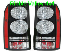 BLACK LED TAIL LIGHTS FOR LAND ROVER DISCOVERY 3 & 4 2014 STYLE PAIR