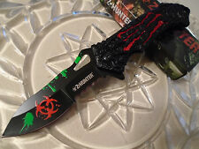 Z-Hunter Assisted Open Monster Zombie Toxic Red Scratch Tactical Pocket Knife