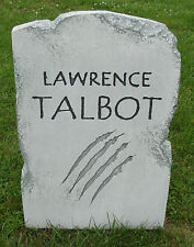 """Halloween 'Lawrence Talbot' tombstone prop decoration 24""""x16""""x2"""""""