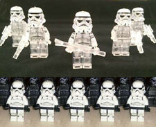 Lego Compatible Lot of 5 Lego Star Wars Transparent & 5 Clone Storm Troopers