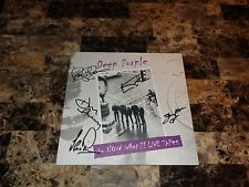 Deep Purple Signed Vinyl What Now? Live Tapes Ian Gillan Ian Paice Steve Morse