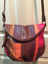 The Sak Deena Slouchy Studded Patchwork Multicolored Crossbody Shoulder Bag