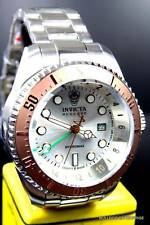 Mens Invicta Reserve Hydromax 52mm Brown Silver Stainless Steel GMT Watch New