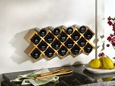 NEW Kamenstein Criss Cross Bamboo 18 Jar Spice Rack FREE SHIPPING