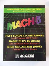 MACH 5 for Commodore 64 Fast Loader Cartridge & Disk with Basic Plus & Organizer