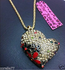 FESTIVE BUBBLE HEART PERSONALITY NECKLACE & CHARM Crystal Alloy