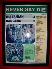 Hibernian 3 Rangers 2 - 2016 Scottish Cup final - framed print