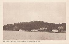 Lac des Iles ST EMILE DE MONTCALM Laurentides Quebec Canada 1930-40s Intaglio