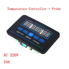 220V 10A LED Digital Temperature Controller Thermostat Control Switch+Probe HH