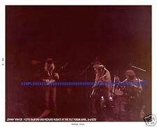 JOHNNY WINTER FELT FORUM APRIL 3RD 1976 HUGHES & HOBBS RARE PHOTO 8X10 +TICKET