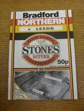 17/04/1987 Rugby League Programme: Bradford Northern v Leeds  . Thanks for viewi