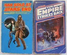 Lot of 2 Star Wars Paperback Books-The Empire Strikes Back/Han Solo at Stars End